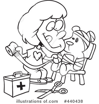 Royalty-Free (RF) Bandage Clipart Illustration by Ron Leishman - Stock