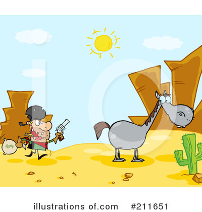 Outlaw Clipart #211651 by Hit Toon