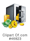 Bank Safe Clipart #46823