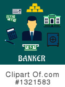 Royalty-Free (RF) Banker Clipart Illustration #1321583