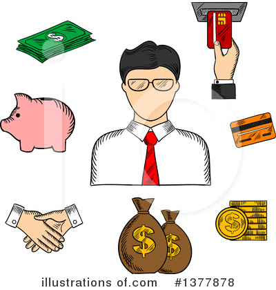 Handshake Clipart #1377878 by Vector Tradition SM