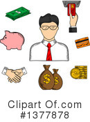 Banker Clipart #1377878 by Vector Tradition SM
