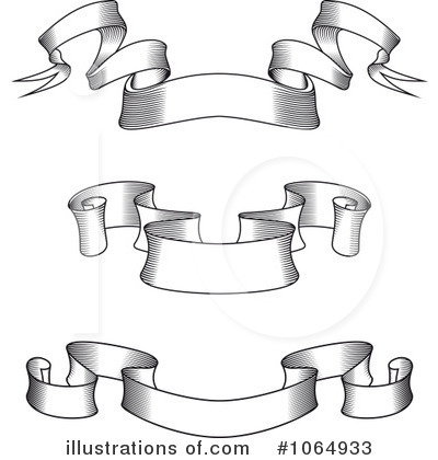 Banners Clipart #1064933 - Illustration by Vector Tradition SM