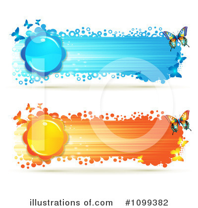 Royalty-Free (RF) Banners Clipart Illustration by merlinul - Stock Sample #1099382