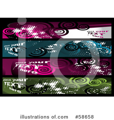 Banners Clipart #58658 by MilsiArt