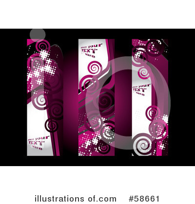 Royalty-Free (RF) Banners Clipart Illustration by MilsiArt - Stock Sample #58661