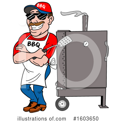 Royalty-Free (RF) Barbecue Clipart Illustration by LaffToon - Stock Sample #1603650