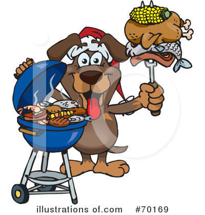 Royalty-Free (RF) Barbecue Clipart Illustration by Dennis Holmes Designs - Stock Sample #70169