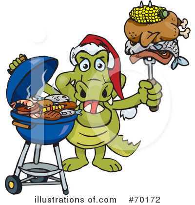 Royalty-Free (RF) Barbecue Clipart Illustration by Dennis Holmes Designs - Stock Sample #70172
