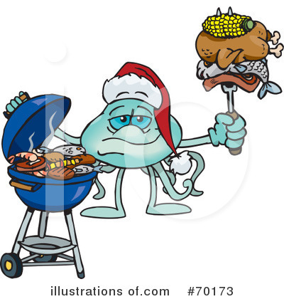 Royalty-Free (RF) Barbecue Clipart Illustration by Dennis Holmes Designs - Stock Sample #70173
