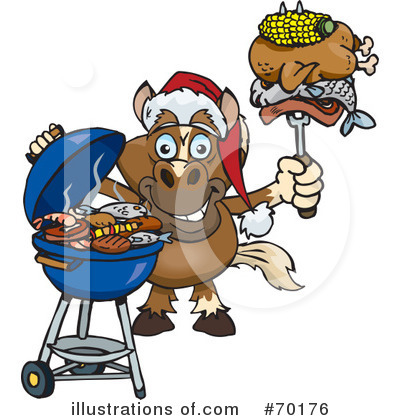 Royalty-Free (RF) Barbecue Clipart Illustration by Dennis Holmes Designs - Stock Sample #70176