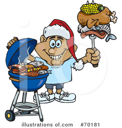 Royalty-Free (RF) Barbecue Clipart Illustration by Dennis Holmes Designs - Stock Sample #70181