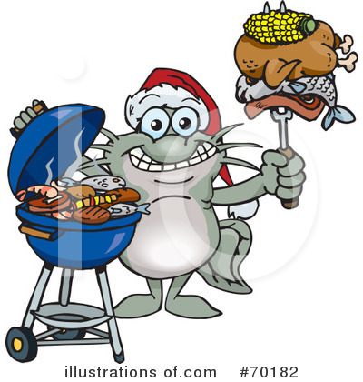 Royalty-Free (RF) Barbecue Clipart Illustration by Dennis Holmes Designs - Stock Sample #70182