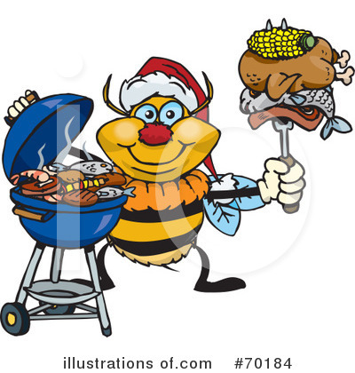 Royalty-Free (RF) Barbecue Clipart Illustration by Dennis Holmes Designs - Stock Sample #70184