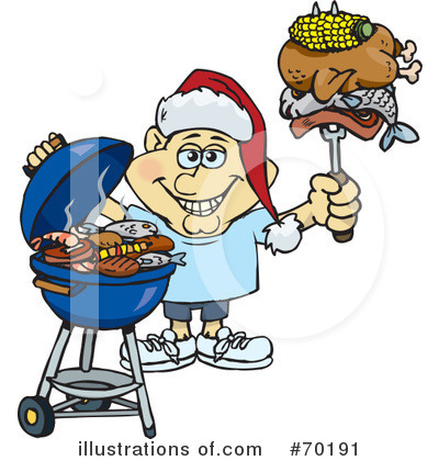 Royalty-Free (RF) Barbecue Clipart Illustration by Dennis Holmes Designs - Stock Sample #70191