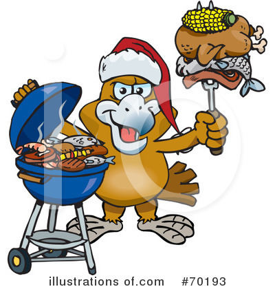 Royalty-Free (RF) Barbecue Clipart Illustration by Dennis Holmes Designs - Stock Sample #70193
