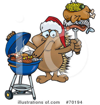 Royalty-Free (RF) Barbecue Clipart Illustration by Dennis Holmes Designs - Stock Sample #70194