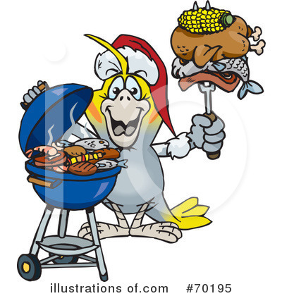 Royalty-Free (RF) Barbecue Clipart Illustration by Dennis Holmes Designs - Stock Sample #70195