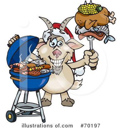 Royalty-Free (RF) Barbecue Clipart Illustration by Dennis Holmes Designs - Stock Sample #70197