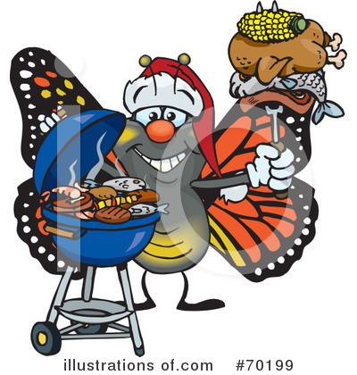 Royalty-Free (RF) Barbecue Clipart Illustration by Dennis Holmes Designs - Stock Sample #70199