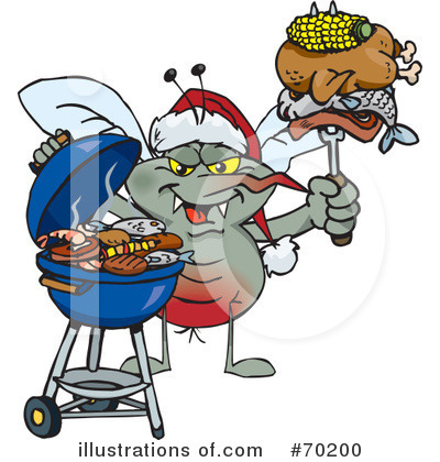 Royalty-Free (RF) Barbecue Clipart Illustration by Dennis Holmes Designs - Stock Sample #70200