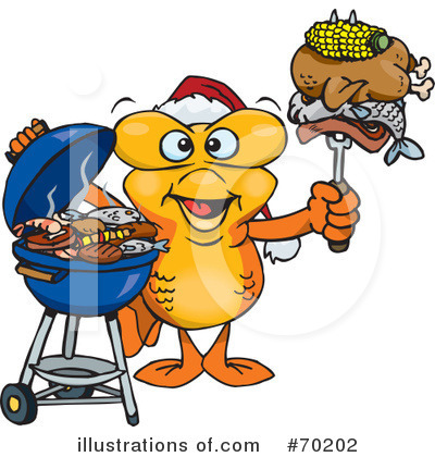 Royalty-Free (RF) Barbecue Clipart Illustration by Dennis Holmes Designs - Stock Sample #70202