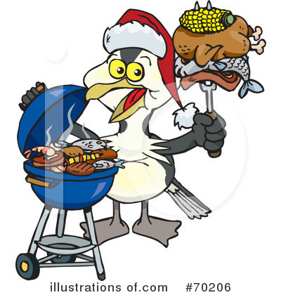 Royalty-Free (RF) Barbecue Clipart Illustration by Dennis Holmes Designs - Stock Sample #70206