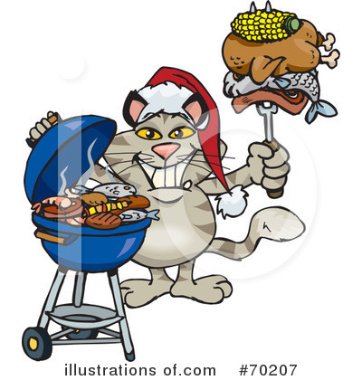 Royalty-Free (RF) Barbecue Clipart Illustration by Dennis Holmes Designs - Stock Sample #70207
