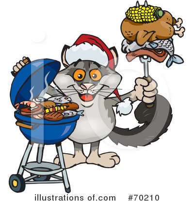 Royalty-Free (RF) Barbecue Clipart Illustration by Dennis Holmes Designs - Stock Sample #70210