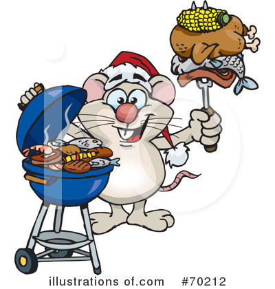 Royalty-Free (RF) Barbecue Clipart Illustration by Dennis Holmes Designs - Stock Sample #70212