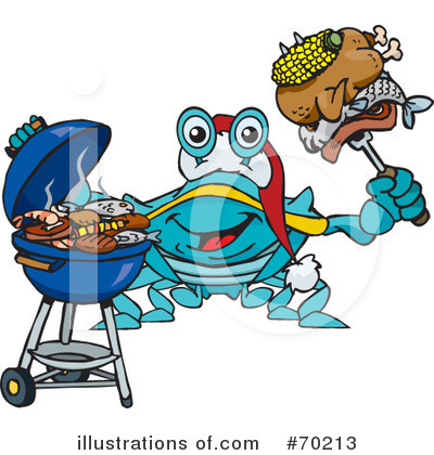 Royalty-Free (RF) Barbecue Clipart Illustration by Dennis Holmes Designs - Stock Sample #70213