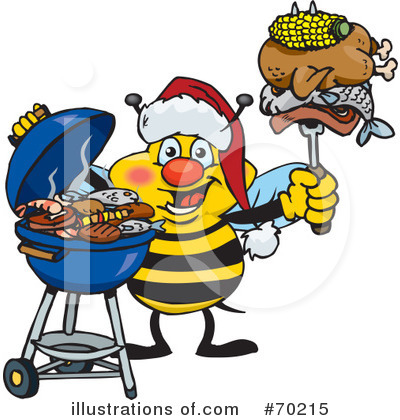 Royalty-Free (RF) Barbecue Clipart Illustration by Dennis Holmes Designs - Stock Sample #70215