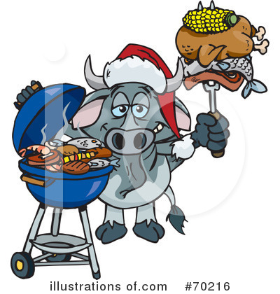 Royalty-Free (RF) Barbecue Clipart Illustration by Dennis Holmes Designs - Stock Sample #70216