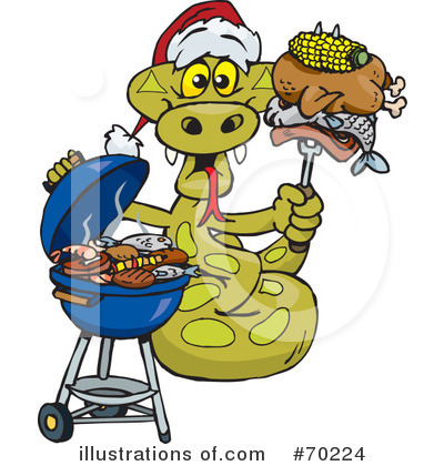 Royalty-Free (RF) Barbecue Clipart Illustration by Dennis Holmes Designs - Stock Sample #70224
