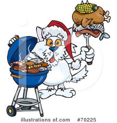 Royalty-Free (RF) Barbecue Clipart Illustration by Dennis Holmes Designs - Stock Sample #70225