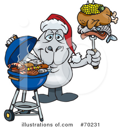 Royalty-Free (RF) Barbecue Clipart Illustration by Dennis Holmes Designs - Stock Sample #70231