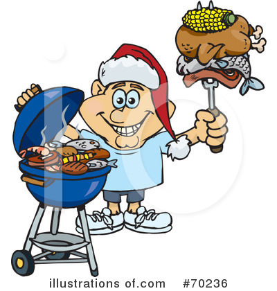 Royalty-Free (RF) Barbecue Clipart Illustration by Dennis Holmes Designs - Stock Sample #70236
