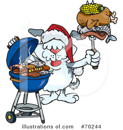 Royalty-Free (RF) Barbecue Clipart Illustration by Dennis Holmes Designs - Stock Sample #70244