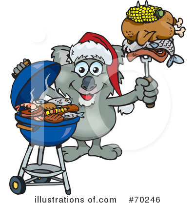 Royalty-Free (RF) Barbecue Clipart Illustration by Dennis Holmes Designs - Stock Sample #70246
