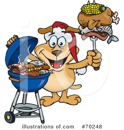Barbecue Clipart #70248 by Dennis Holmes Designs