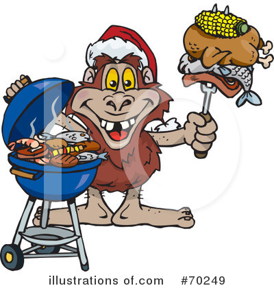 Barbecue Clipart #70249 by Dennis Holmes Designs