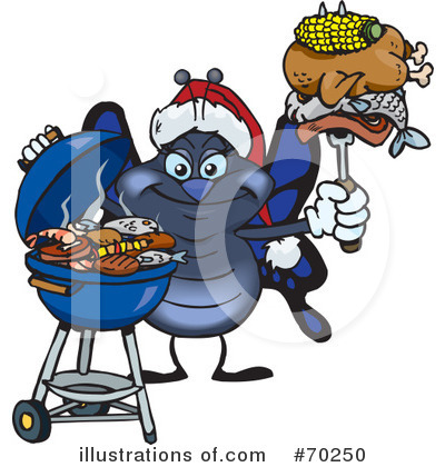 Royalty-Free (RF) Barbecue Clipart Illustration by Dennis Holmes Designs - Stock Sample #70250