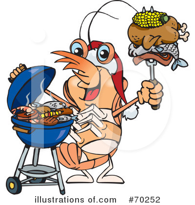 Royalty-Free (RF) Barbecue Clipart Illustration by Dennis Holmes Designs - Stock Sample #70252