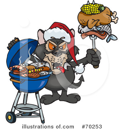 Barbecue Clipart #70253 by Dennis Holmes Designs