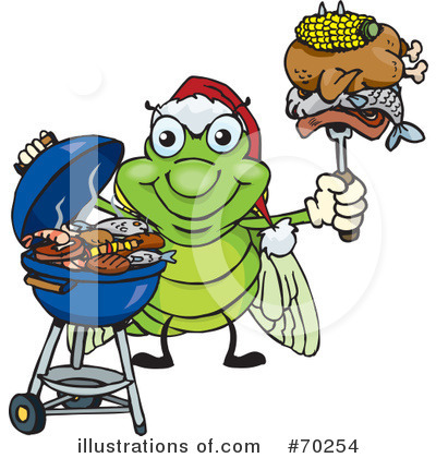 Bbq Clipart #70254 by Dennis Holmes Designs