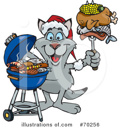 Royalty-Free (RF) Barbecue Clipart Illustration by Dennis Holmes Designs - Stock Sample #70256