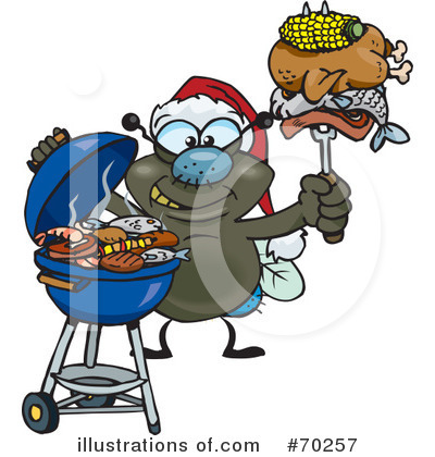 Barbecue Clipart #70257 by Dennis Holmes Designs