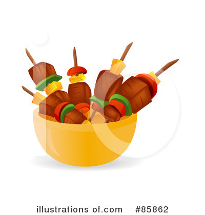 Royalty-Free (RF) Barbecue Clipart Illustration by BNP Design Studio