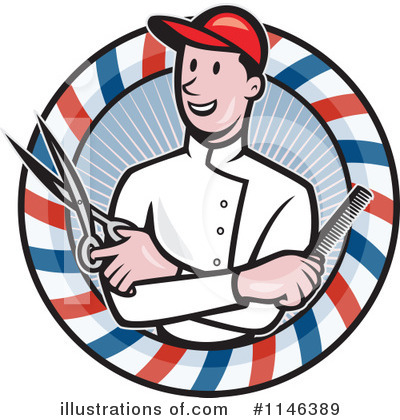 Barber Clipart #1146389 by patrimonio