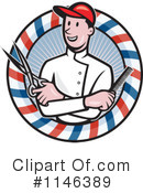 Royalty-Free (RF) Barber Clipart Illustration #1146389